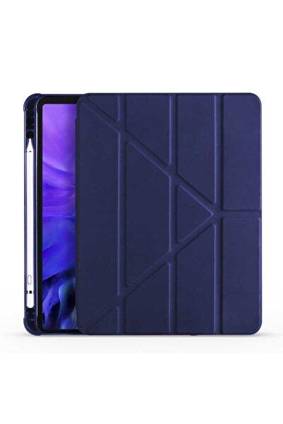 zore Apple Ipad 10.2 (8. Nesil) Tablet Kılıfı Standlı Kalem Bölmeli Tam Koruma Kapaklı Tpu Silikon Kapak
