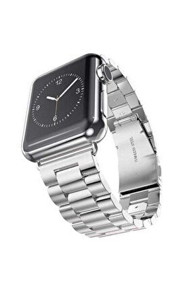 Apple Watch 1 2 3 4 5 6 Serisi 40mm Yandan Klipsli Ayarlanabilir Metal Kordon (krd-04)