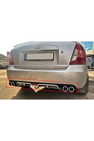 Hyundai Accent Era 4 Çıkışlı Egzoz Görünümlü Arka Tampon Ek'i Difüzör