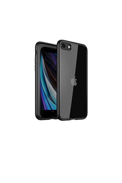 zore Apple Iphone Se 2020 Kılıf Renkli Kenarları Tpu Şeffaf Kamera Korumalı Silikon Kapak
