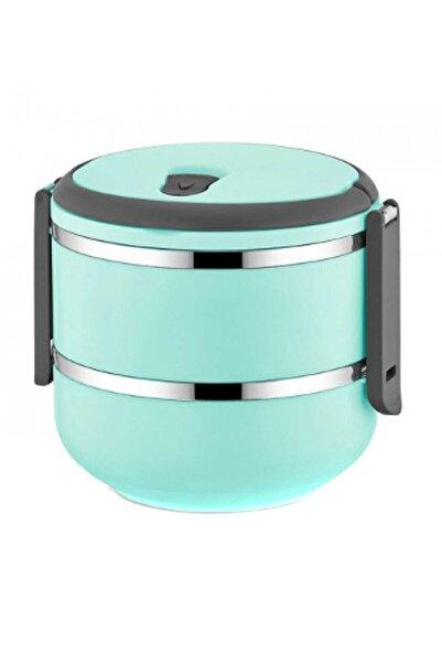 FreshBox 2 Katlı Sızdırmaz Yemek Termosu Sefer Tası Saklama Kabı Turkuaz 1,50 Litre