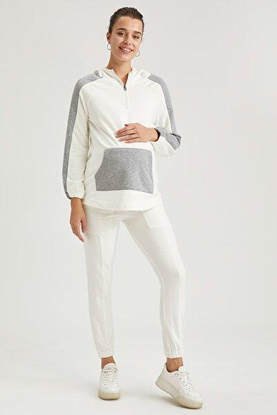 DeFacto Kadın Ekru Hamile Relax Fit Jogger Pantolon T2668AZ20AU