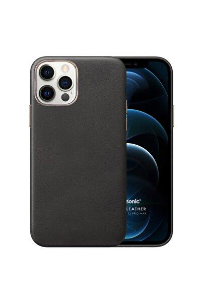 Microsonic Microsonic Iphone 12 Pro Max Kılıf Luxury Leather Siyah
