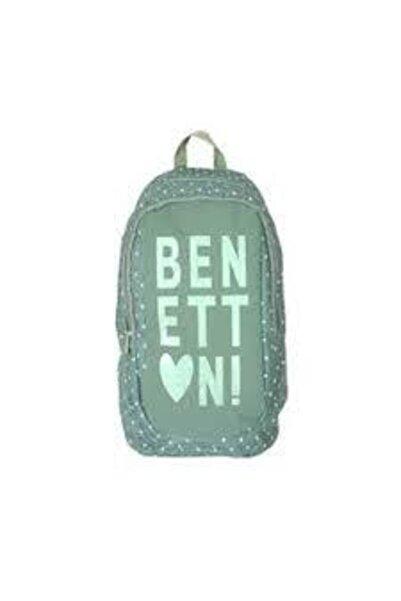 Benetton Unisex Su Yeşili Okul Sırt Çantası 95007