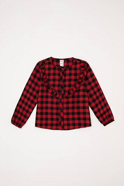 DeFacto Kız Bebek Ekose Desen Kumaş Gömlek