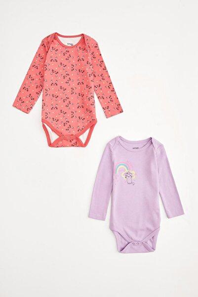DeFacto Kız Bebek Mor Çıtçıtlı Body
