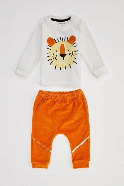 DeFacto Erkek Bebek Hardal Jogger Eşofman ve Sweatshirt Takım