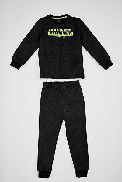 DeFacto Fit Erkek Çocuk Baskılı Pijama Takım