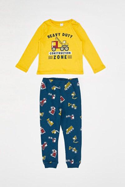 DeFacto Erkek Bebek Baskılı Pijama Takımı