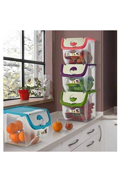 kitchen trend Yeni Trend Yiyecek Saklama Kapları Erzak Saklama Kabı 3 Adet Erzak Kabı