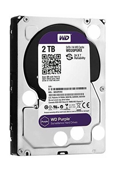 WD Purple 3.5 2tb 5400 RPM 64mb Sata 3 6gb/s 7/24 Wd20purz