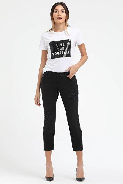 Loft Kadın Siyah Slim Fit Jean Pantolon