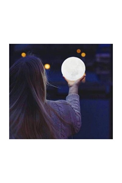 pazariz 3d Ay Gece Lambası Dekoratif Küre Led Başucu Lambası