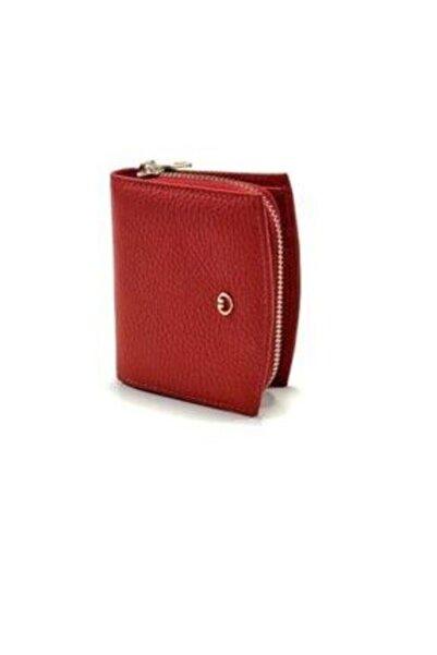 GUARD Kadın Kırmızı Hakiki Deri Mini Cüzdanı