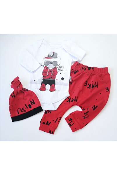 Miniworld Erkek Bebek Kırmızı Şapkalı Badili Takım