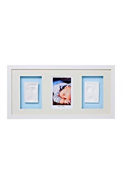 Baby Memory Prints Beyaz Prints Trio El Ve Ayak İzi 3'Lü Çerçeve