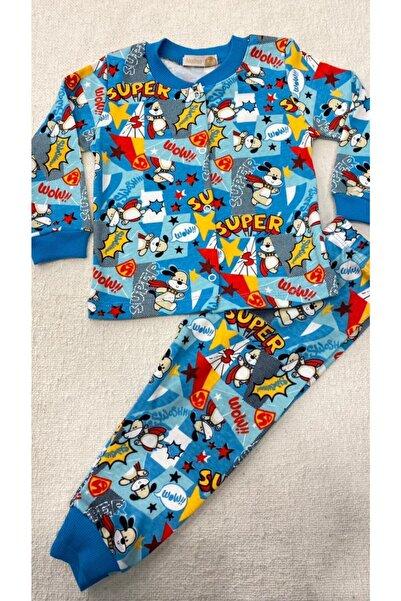 Melisa Çocuk Pijaması %100 Pamuk Önden Çıtçıtlı Süper Köpek Desenli