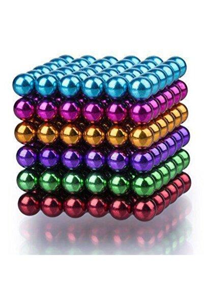 Zengin Hediyeler 6 Renkli Mıknatıslı Küp 5mm 216 Adet Sihirli Manyetik Toplar