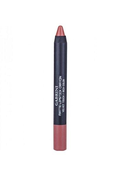 Gabrini Pembe Matte Lipstick Crayon Velvet Touch 03