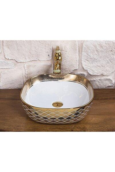 Pure Concept Blow Gold White Çanak Lavabo
