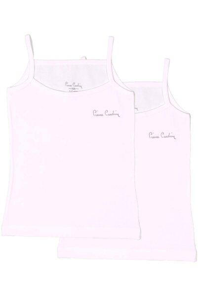 Pierre Cardin Kız Çocuk Beyaz Likralı Atlet 301975