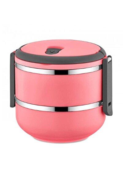 FreshBox 2 Katlı Sızdırmaz Yemek Termosu Sefer Tası Saklama Kabı Pembe 1,50 Litre