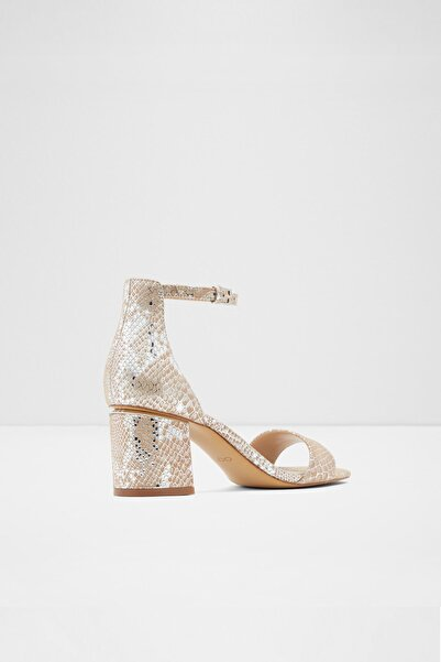 Aldo Kadın Gümüş Orta Topuklu Sandalet