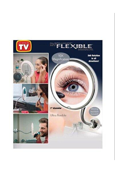 A PLUS Makyaj Aynası Esnek Işıklı Çerçeveli Flexible 10x Zoomlu Ultra