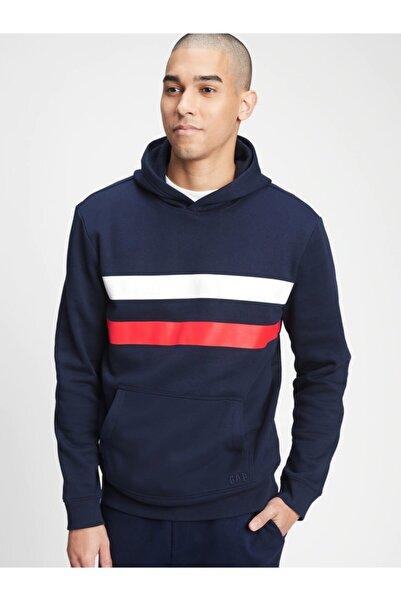 GAP Şerit Detaylı Kapüşonlu Sweatshirt