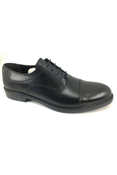 Alpıno Erkek Siyah Bağsız Klasik Deri Corcik Ayakkabı