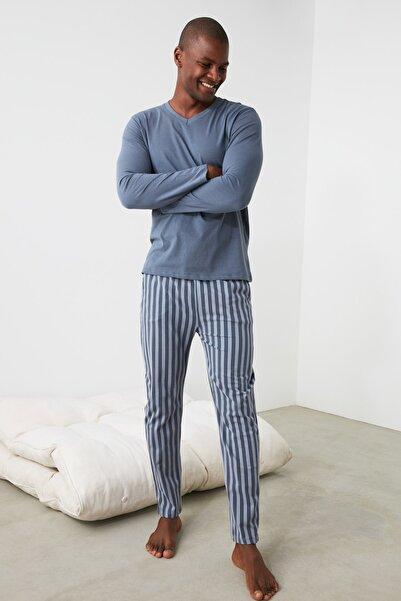 TRENDYOL MAN Çizgili Örme Pijama Takımı THMAW21PT0715