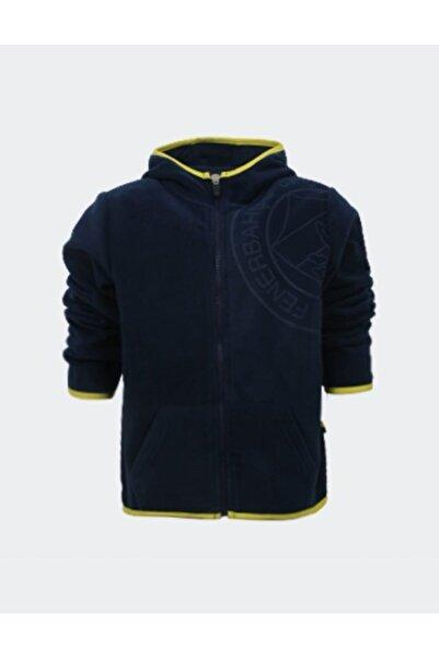 Fenerbahçe Unisex Çocu Lacivert Trıbun Yakmalı Polar Sweatshirt