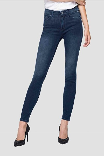 Replay Kadın Mavi Skinny Fit Luzien Jeans