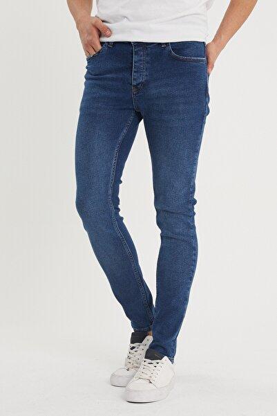 XHAN Erkek Lacivert Slim Fit Jean Pantolon 1kxe5-44351-14
