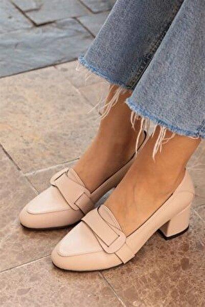 Romy Krem Renk Topuklu Ayakkabı