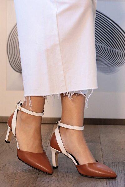 Mio Gusto Luna Taba Topuklu Ayakkabı