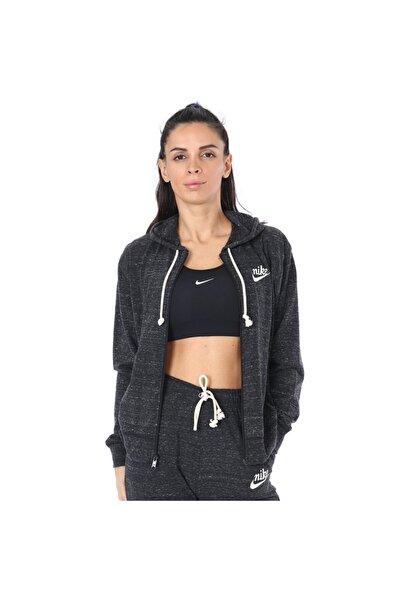 Nike Kadın Siyah W Nsw Gym Vntg Hoodıe Fz Sweatshırt