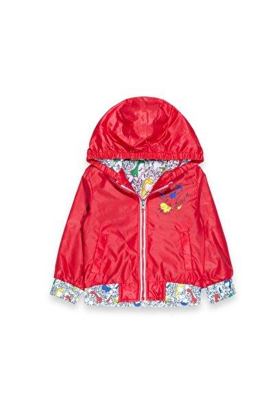 Midimod Erkek Çocuk Kırmızı Kapüşonlu Yağmurluk
