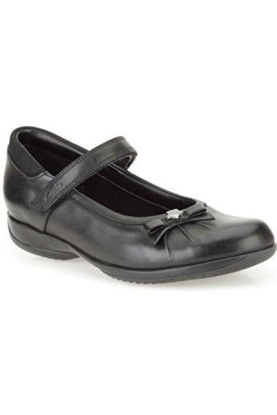 CLARKS Kız Çocuk Siyah Cırtlı Ayakkabı