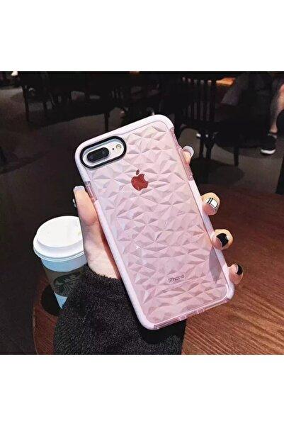 HEYO COVER Iphone 7 Plus Kristal Desen Şeffaf Kılıf