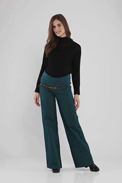 Lyn Devon Kadın Yeşil Hamile Lauren Pantolon