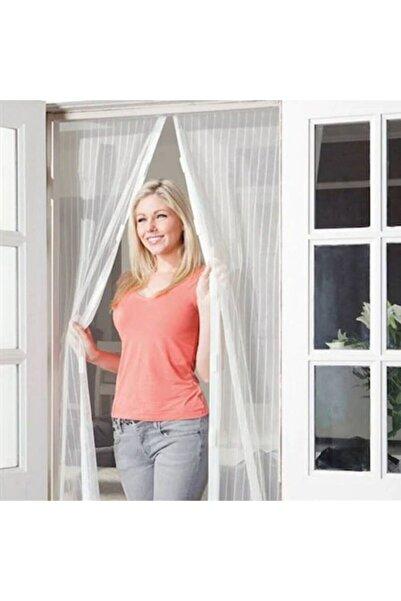 Tedarikcenter Beyaz Mıknatıslı Kapı Sinekliği Tül Perde