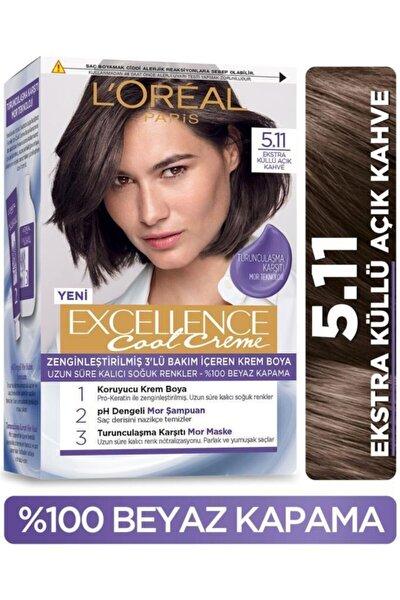 L'Oreal Paris L'oréal Paris Excellence Cool Creme Saç Boyası – 5.11 Ekstra Küllü Açık Kahve