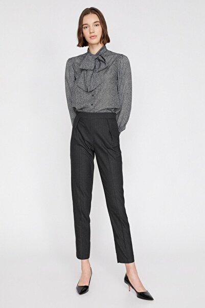 Koton Kadın Gri Cep Detayli Pantolon 0KAK42179UW