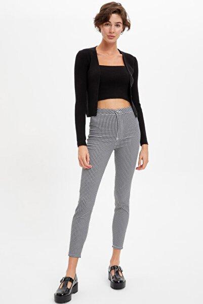 DeFacto Yüksek Bel Desenli Tayt Pantolon