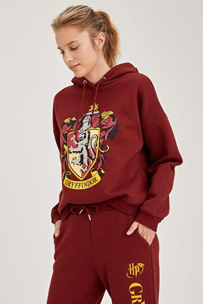 DeFacto Kadın Bordeaux Harry Potter Lisanslı Sweatshirt S8825AZ20WN