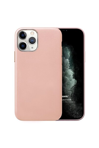 Microsonic Apple Iphone 11 Pro Kılıf Luxury Leather Rose Gold