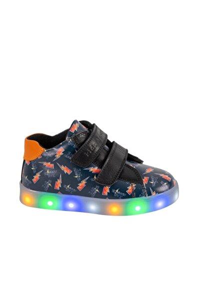 kids A more Awesome Dijital Baskılı Deri Işıklı Taban Ayakkabı
