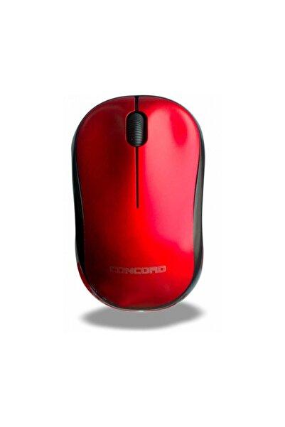 Concord Wireless 1200 Dpı Kablosuz Optik Mouse - Kablosuz Mause C-13 Kırmızı