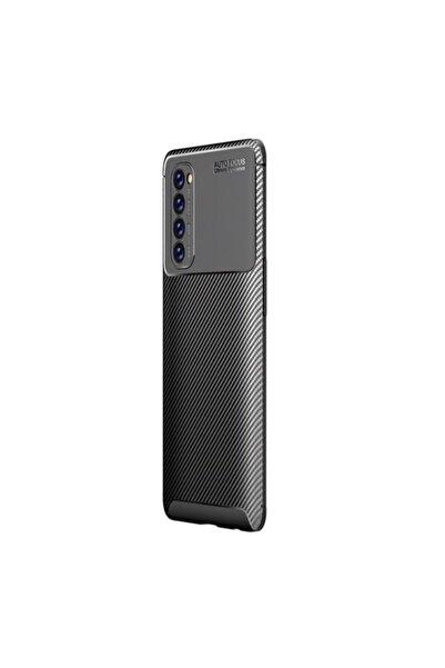OPPO Reno4 Pro Kılıf Negro Karbon Silikon Siyah
